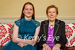 Mary Moriarty from Fenit celebrating her 90th birthday on Saturday and her grand daughter Riona McMorrow-Moriarty celebrating her Confirmation at home in Fenit on Saturday