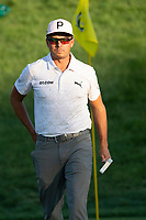 4th June 2021; Dublin, Ohio, USA;  Rickie Fowler (USA) after finishing his round on the 18th hole during the second round of the Memorial Tournament at Muirfield Village Golf Club in Dublin, Ohio on June 04, 2021.
