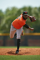 Baltimore Orioles pitcher Leonardo Rodriguez (59) during a Minor League Spring Training game against the Tampa Bay Rays on April 23, 2021 at Charlotte Sports Park in Port Charlotte, Florida.  (Mike Janes/Four Seam Images)