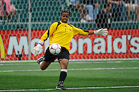 Canada (CAN) goalkeeper Karina LeBlanc (1). The United States (USA) Women's National Team defeated Canada (CAN) 1-0 during an international friendly at Marina Auto Stadium in Rochester, NY, on July 19, 2009.