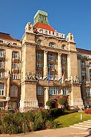 Exterior of the Hotel Gellért, Gellert. Budapest, Hungary