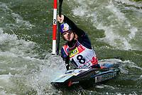 4th September 2021; Parc Olimpic del Segre, La Seu D'Urgellm ICF Slalom World Cup, Women's Kayak Final;  Evy Leibfarth (USA)