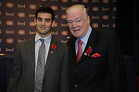 Montreal  (Quebec) CANADA - Nov 2011 File Photo - Dr David Mulder (R)  at the press conference where<br /> Hockey Player Max Pacioretty (L) annonce he <br />  return to Hockey<br />  after a major injury.