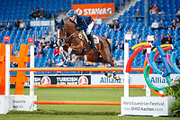 GBR-Zara Tindall rides Class Affair during the Jumping for the CCIO4*-S Eventing - SAP Cup. 2021 GER-CHIO Aachen Weltfest des Pferdesports. Aachen, Germany. Friday 17 September. Copyright Photo: Libby Law Photography