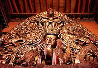 Golden Buddha altar Dreprung Monastery near Lhasa Tibet