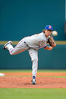 St. Lucie Mets pitcher Jacob DeGrom #47 during a game against the Bradenton Marauders on April 12, 2013 at McKechnie Field in Bradenton, Florida.  St. Lucie defeated Bradenton 6-5 in 12 innings.  (Mike Janes/Four Seam Images)