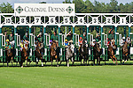 20 June 2009: The start of the Colonial Turf Cup (Gr II) stakes race. Battle of Hastings (GB), number 8, wins the race.