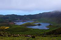 Caldeira auf der Insel Corvo, Azoren, Portugal
