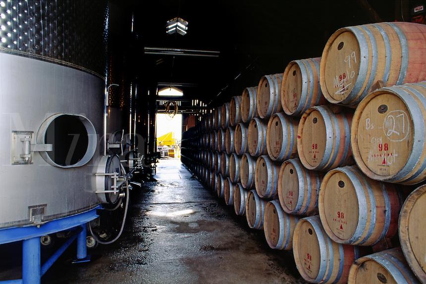 OAK BARREL CASKS for AGING WINE at VENTANNA VINEYARDS - MONTEREY COUNTY, CALIFORNIA