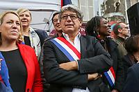 LA FRANCE INSOUMISE - MANIFESTATION DES FONCTIONNAIRES A PARIS, FRANCE, LE 10/10/2017.