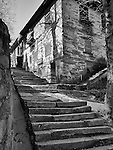 Steps Lead Past A Residence Near Ruqin Lake In Lushan (Kuling).