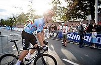 Florian Vermeersch (BEL/Lotto Soudal) leaving the venue post-race<br /> <br /> U23 - Road Race (WC)<br /> race from Antwerp to Leuven (161.1km)<br /> <br /> UCI Road World Championships - Flanders Belgium 2021<br /> <br /> ©kramon