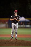 Salem-Keizer Volcanoes relief pitcher Alex DuBord (49) during a Northwest League game against the Hillsboro Hops at Ron Tonkin Field on September 1, 2018 in Hillsboro, Oregon. The Salem-Keizer Volcanoes defeated the Hillsboro Hops by a score of 3-1. (Zachary Lucy/Four Seam Images)