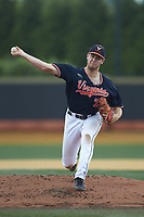 Virginia Cavaliers starting pitcher Bobby Nicholson (21) in action against the Wake Forest Demon Deacons at David F. Couch Ballpark on May 19, 2018 in  Winston-Salem, North Carolina. The Demon Deacons defeated the Cavaliers 18-12. (Brian Westerholt/Four Seam Images)