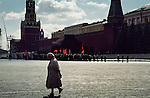 Visitors to the Lenin Mausoleum on the Red Square in Moscow, Russia.