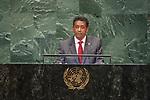 DSG meeting<br /> <br /> AM Plenary General DebateHis<br /> <br /> <br /> His Excellency Danny Faure, President, Republic of Seychelles