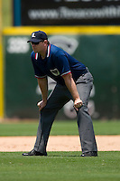 Third base umpire Kevin Causey during an International League game between the Buffalo Bison and the Charlotte Knights at Knights Castle June 22, 2009 in Fort Mill, South Carolina. (Photo by Brian Westerholt / Four Seam Images)