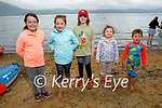 Attending the Derrymore to Fenit swim on Monday in Fenit. L to r: Órna Nolan, Hannah Dempsey, Clíona Nolan, Hazel Dempsey and Dáithí Nolan.