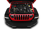 Car Stock 2019 JEEP Wrangler Rubicon 5 Door SUV Engine  high angle detail view