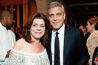 George Clooney Dinner at Cason Thrash home following Brilliant Lecture Series