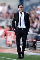 Atletico de Madrid's coach Diego Pablo Cholo Simeone during La Liga match.April 14,2013. (ALTERPHOTOS/Acero)
