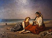 Europe/France/Aquitaine/64/Pyrénées-Atlantiques/Pays-Basque/Bayonne: Musée Basque _ Basquaises aprés le bain par Jules Jacques Veyrassat 1870