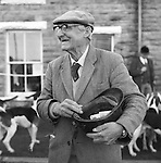 The Blencathra Foxhounds. Dick Peel collects the cap. Dick usually collects around £120 in cap money, which goes towards the upkeep of the hounds. Hesket Newmarket, Cumbria..