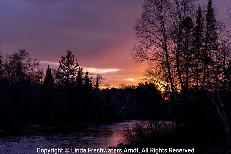 Sunset on the Chippewa River in the Chequamegon National Forest.