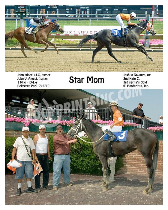 Star Mom winning at Delaware Park on 7/5/10