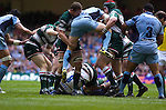 Cardiff Blues v Leicester Tigers - Heineken Cup Semi-Final at the Millennium Stadium in Cardiff..Cardiff's Martyn Williams is lifted high..