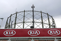 General view of the gasometer ahead of Surrey vs Essex Eagles, Royal London One-Day Cup Cricket at the Kia Oval on 23rd April 2019