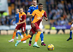 St Johnstone v Galatasaray…12.08.21  McDiarmid Park Europa League Qualifier<br />Patrick van Aanholt and James Brown.<br />Picture by Graeme Hart.<br />Copyright Perthshire Picture Agency<br />Tel: 01738 623350  Mobile: 07990 594431