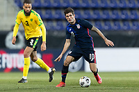 WIENER NEUSTADT, AUSTRIA - MARCH 25: Christian Pulisic #10 of the United States during a game between Jamaica and USMNT at Stadion Wiener Neustadt on March 25, 2021 in Wiener Neustadt, Austria.