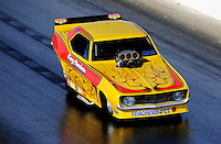 Mar. 7, 2010; Bakersfield, CA, USA; Nostalgia funny car driver Gary Densham during the 52nd annual March Meet at the Auto Club Famoso Raceway. Mandatory Credit: Mark J. Rebilas-