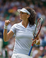 London, England, 28 june, 2016, Tennis, Wimbledon, Amra Sadikovic (SUI)<br /> Photo: Henk Koster/tennisimages.com