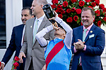 May 1, 2021 : Connections celebrate Medina Spirit, #8, ridden by jockey John Velazquez, winning the 147th running of the Kentucky Derby on Kentucky Derby Day at Churchill Downs on May 1, 2021 in Louisville, Kentucky. Alex Evers/Eclipse Sportswire/CSM