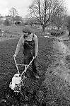 Upper Slaughter, Gloucestershire 1975. England.<br /> <br /> Mr Brian Freeman.