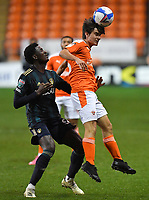Blackpool's Rob Apter on his debut<br /> <br /> Photographer Dave Howarth/CameraSport<br /> <br /> EFL Trophy - Northern Section - Group G - Blackpool v Leeds United U21 - Wednesday 11th November 2020 - Bloomfield Road - Blackpool<br />  <br /> World Copyright © 2020 CameraSport. All rights reserved. 43 Linden Ave. Countesthorpe. Leicester. England. LE8 5PG - Tel: +44 (0) 116 277 4147 - admin@camerasport.com - www.camerasport.com