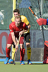 GER - Mannheim, Germany, May 27: During the men semi-final match between Rot-Weiss Koeln and Harvestehuder THC at the Final4 tournament May 27, 2017 at Am Neckarkanal in Mannheim, Germany. (Photo by Dirk Markgraf / www.265-images.com) *** Local caption *** Alexander SCHOELLKOPF #7 of Rot-Weiss Koeln, Jan-Philipp Heuer #7 of Harvestehuder THC