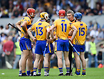 Donal Moloney, Clare joint manager, has a word with his forwards before the second halfof their Munster  championship round robin game at Cusack Park Photograph by John Kelly.