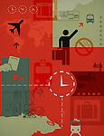 Illustrative representation of world travel and transport