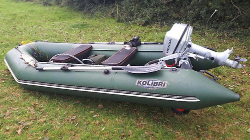 The boat seized by IFI fisheries officers on Drumcah Lough in Co Louth last October