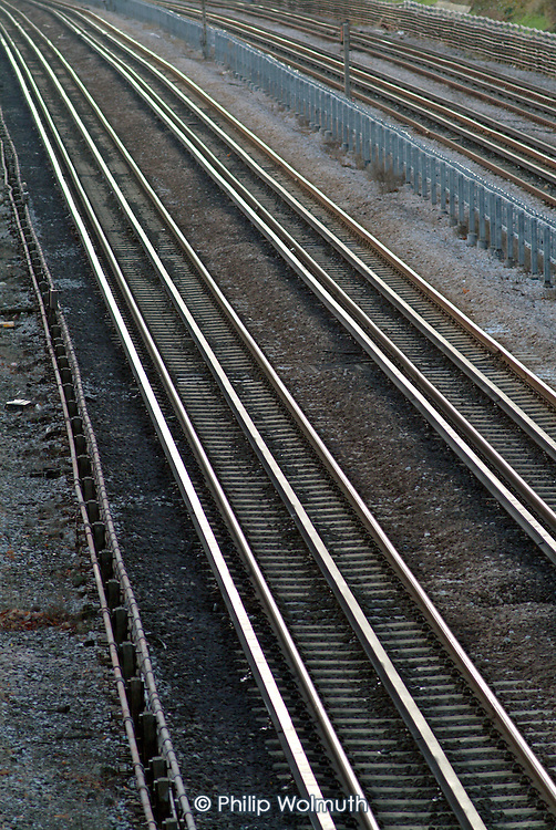 London underground track between Willesden Green and Kilburn tube stations