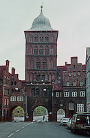 Lubeck: Tollhouse, 1571. The Burgtor, north end of Grosse Burgstr. Photo '87.