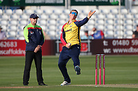 Simon Harmer in bowling action for Essex during Essex Eagles vs Hampshire Hawks, Vitality Blast T20 Cricket at The Cloudfm County Ground on 11th June 2021