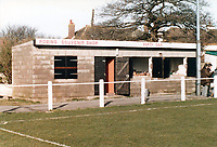 Souvenir Shop and Tea Bar at Badgers Hill, home of Frome Town FC (Somerset), pictured in February 1988 - Gavin Ellis/TGSPHOTO - Self billing applies where appropriate - 0845 094 6026 - contact@tgsphoto.co.uk - NO UNPAID USE.