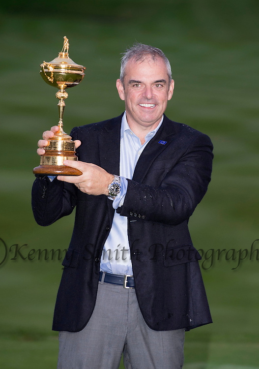 during Day Three of the 40th Ryder Cup at Gleneagles Golf Course, Perthshire. Photo credit should read: Kenny Smith/Press Association Images.