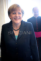 Angela Merkel.Pope Francis receives German Chancellor Angela Merkel during a private audience at the Vatican on May 18, 2013.