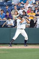 July 4, 2009: Everett AquaSox shortstop Anthony Phillips at-bat during a Northwest League game against the Yakima Bears at Everett Memorial Stadium in Everett, Washington.