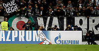 Calcio, Champions League: Gruppo D - Juventus vs Siviglia. Torino, Juventus Stadium, 30 settembre 2015.  <br /> Juventus' Alvaro Morata celebrates after scoring during the Group D Champions League football match between Juventus and Sevilla at Turin's Juventus Stadium, 30 September 2015.<br /> UPDATE IMAGES PRESS/Isabella Bonotto